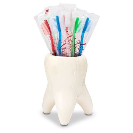 NiceTouch Disposable Toothbrushes with Mint Burst Xylitol Toothpaste Three-Box Pack (with Free Molar Vase)