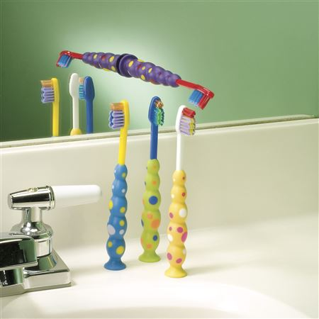 Child Suction Cup Toothbrushes Bulk Pack