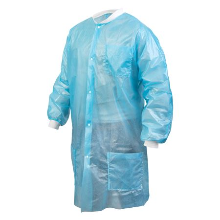 Disposable Button-Up Isolation Gowns 10/Bag