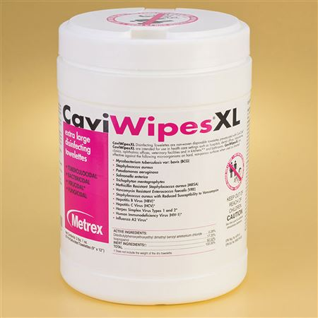 XL CaviWipes Towelettes 65/Canister