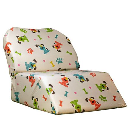 Crescent Puppy Print Child Booster Seat