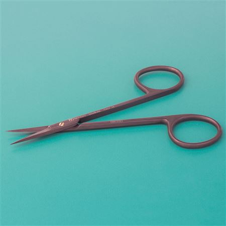 Black Sharp Iris Straight Scissors