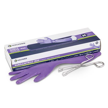 Halyard Purple Nitrile Max Powder-free Gloves
