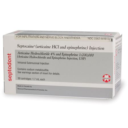 Septocaine with Epinephrine 1:200,000 1.7ml