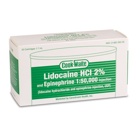 Lidocaine HCl 2% and Epinephrine 1:50,000 1.8ml