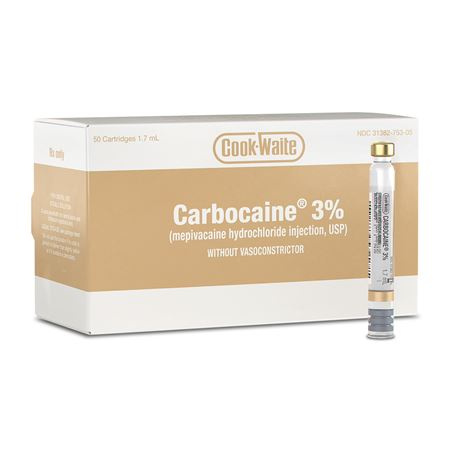 Cook-Waite Carbocaine 3% 1.7ml Anesthetic
