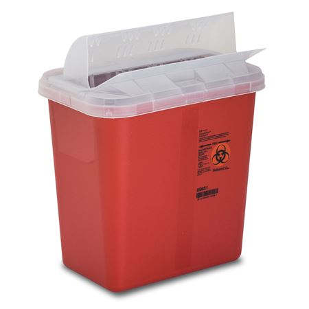 Horizontal Drop 2-Gallon Sharps Container