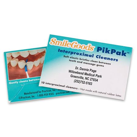 SmileGoods Personalized Pikpak Interproximal Cleaners