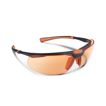 5X3 Safety Glasses - Black/Orange with Curing Lens