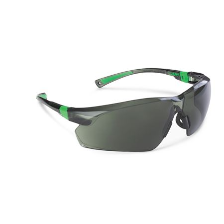 506 Up Safety Glasses - Black/Green With Smoke Lens 1/Each