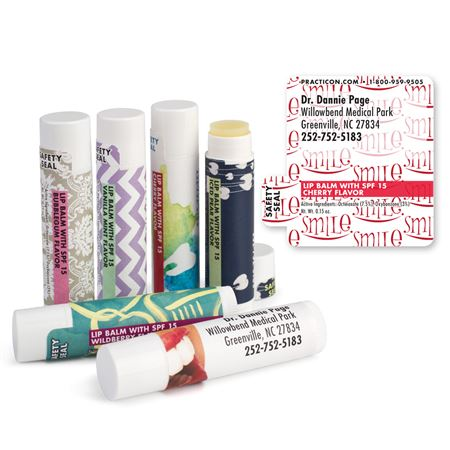 Smile Logo White Lip Balms - Bulk