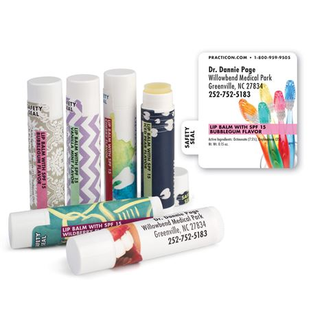 Rainbow Toothbrushes Personalized Lip Balms- Bulk