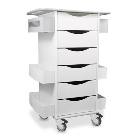 Core Six-Drawer Locking Cart