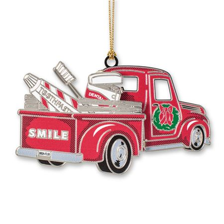 27th Annual Red Truck Brass Ornament