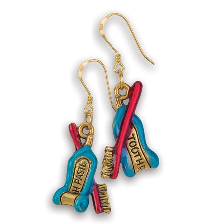 Whimsical Brush Paste Earrings