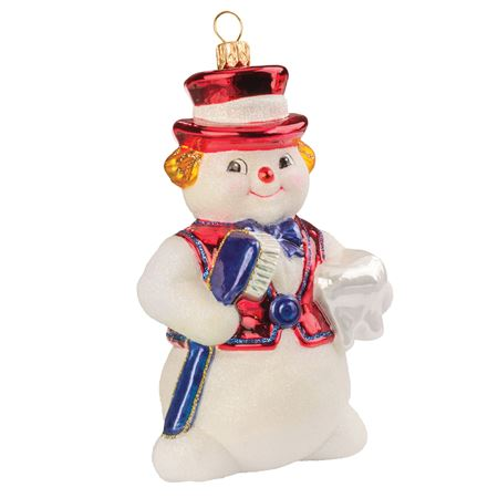 Hand-Crafted Snowman Ornament