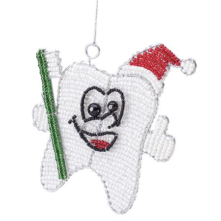 Beaded Tootie Ornament With Hat