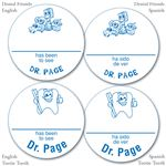 Personalized Blue Name-A-Round Stickers - Bulk