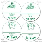 Personalized Green Name-A-Round Stickers - Bulk