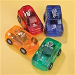 Translucent Pull Back Cars 24/Pack
