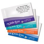 Personalized Mint Mobile Floss Business Cards with Appointment Reminder 250/Box