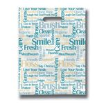 9 X 12 Tooth Talk Scatterprint Bag