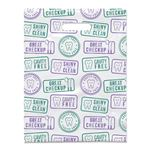 8 X 10 Dental Stamp Scatter Print Tote Bags - Bulk