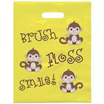 9 X 12 Brush Floss Smile Monkey Patient Care Bags
