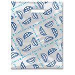 8 X 10 Scatter Print Smile Plaid Bags - Bulk