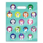 Character Teeth 8 x 10 Four-color Patient Care Bags - 100 Pack