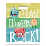Clean Chompers Rock 8 x 10 Four-color Patient Care Bags - 100/Pack
