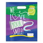 We Love Your Smile 8 x 10 Four-color Patient Care Bags - 100 Pack