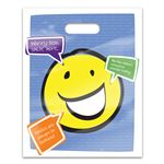 Worry Less Smile More 8 x 10 Four-color Patient Care Bags - 100 Pack