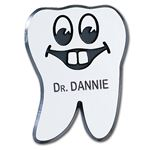 Happy Tooth Name Badge Without Braces