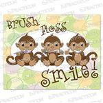 Brush Floss Monkeys Practicare Postcard