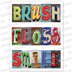 Brush Floss Art Practicare Postcard