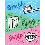 Brush Floss Smile F Reminder Laser Card