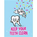 Keep Your Teeth Clean Reminder Laser Card