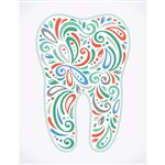 Paisley Tooth Laser Card