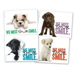Puppies Miss Your Smile Practicare Postcard