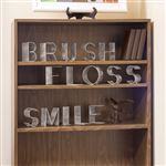 Brush Floss Smile Word Art Set