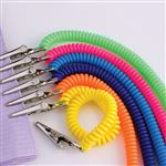 Super Neon Coil Bib Holders 6/Each