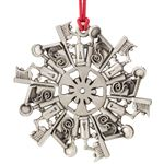 Pewter Dental Snowflake Ornament