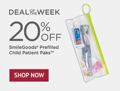 Deal of the Week - 20% Off SmileGoods Prefilled Child Patient Paks