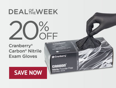 Deal of the Week - Save 20% on Cranberry Carbon Powder-Free Nitrile Gloves