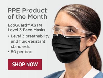 PPE Product - EcoGuard Black Level 3 Face Masks