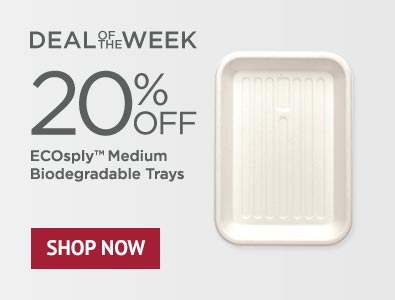 Deal of the Week - 20% Off ECOsply Medium Biodegradable Trays
