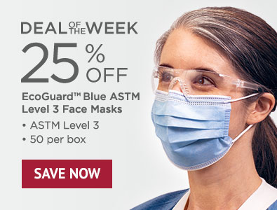 Deal of the Week - Save 25% on EcoGuard Blue Level 3 Face Masks
