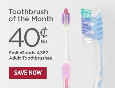 Toothbrush of the Month - SmileGoods A362 Adult Toothbrushes