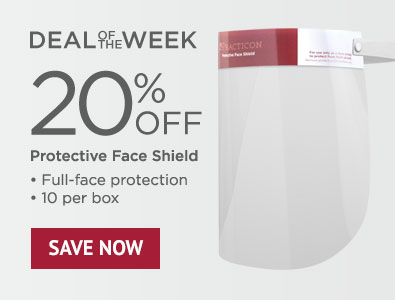 Deal of the Week - Save 20% on Protective Face Shield 10 Pack